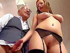 Teen british slut drilled by old sir