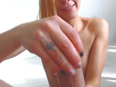 Hot Bulgarian Teen Works her Daddy's cock