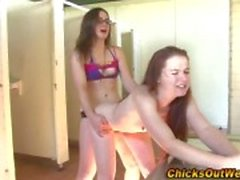 Amateur lesbo strapon fucked