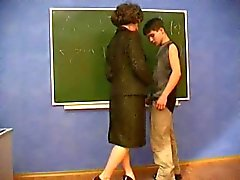 MILF teacher seduces young student
