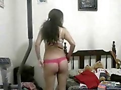 hot indian girl recording herself