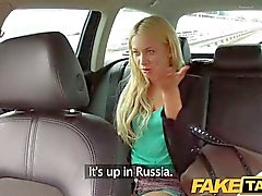 FakeTaxi - Hot blonde sucks dick and takes it