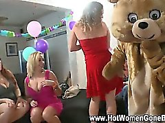 Cfnm amateur sucks black at party