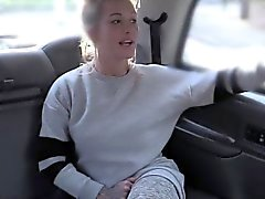 Busty blonde Brit anal screwed in cab