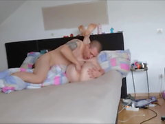 Horny amateur couple quickie fuck at home