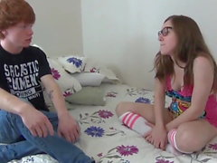 Cute Teen Gets Accidental Creampie By Her new Roommate